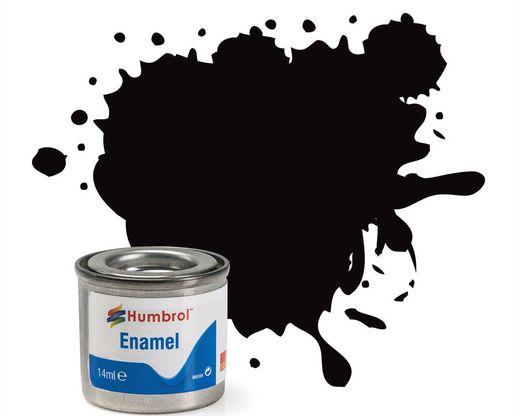 Peinture maquette enamel - Humbrol 201 - Noir Métal - Humbrol AA6392
