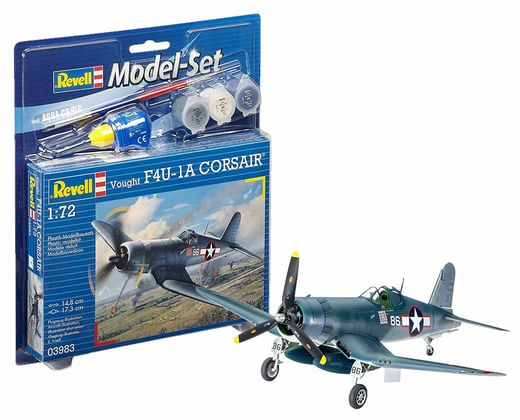 Maquette d'avion militaire : Model set F4U-1D Corsair - 1:72 - Revell 63983