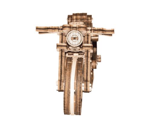 Puzzle 3D / Maquette bois - Moto vintage Cafe Racer mécanisée - 1:16 - Wooden City WR340