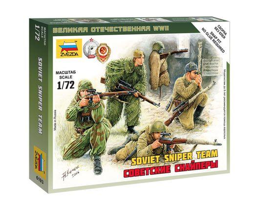 Figurines militaires : Tireurs d'élite Soviétiques - 1/72 - Zvezda 6193