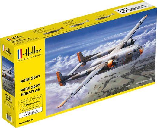 "Maquettes avions : Nord2501 + Nord 2502 ""Noratlas"" Twinset - 1/72 - Heller 85374"