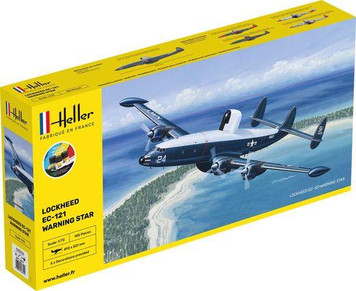 Maquette avion militaire :  Starter Kit EC.121 warning star - 1/72 - Heller 56311