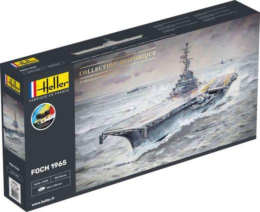 Maquette navire militaire : Starter Kit : Porte-avions Foch - 1/400 - Heller 57071