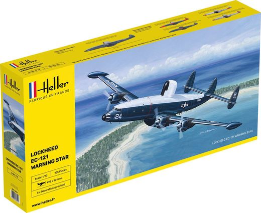 Maquette avion militaire :  EC.121 warning star - 1/72 - Heller 80311