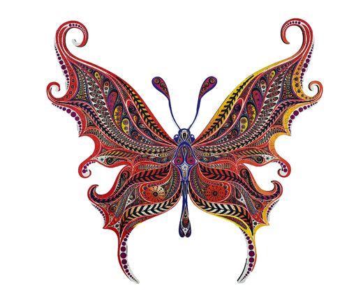 Puzzle décoratif en bois : Papillon illusionniste - Créatif Puzzle