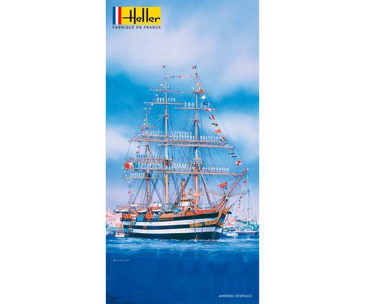 Maquette voilier : Starter Kit Amerigo Vespucci - 1:150 - Heller 58807