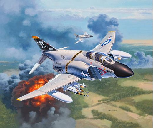 Maquette avion militaire : F-4J Phantom US navy - 1:144 - Revell 03941