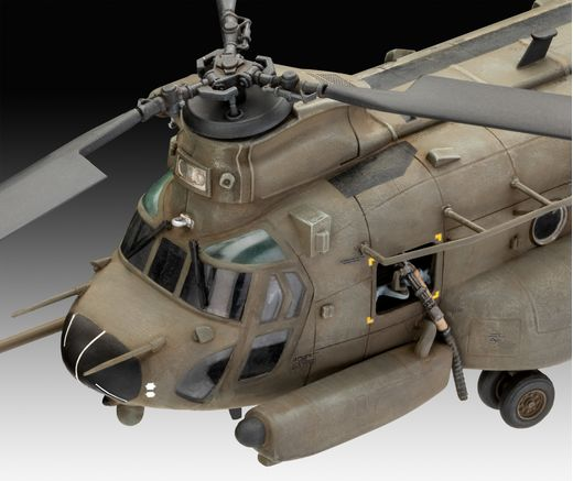 Maquette hélicoptère militaire : Mh-47 Chinook - 1/72 - Revell 3876 03876