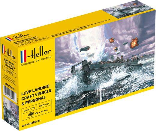 Maquette militaire : LCVP Landungsboot + Figurines - 1:72 - Heller 79995