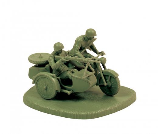 Figurines & véhicule militaires : Sidecar Soviétique M‐72 - 1/72 - Zvezda 06277 6277