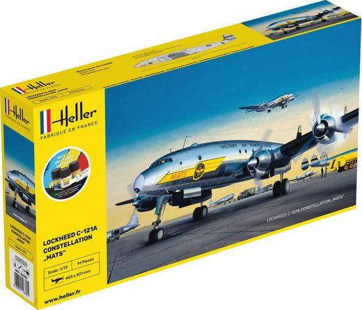 """Starter Kit C-121A constellation """"Mats"""" 1:72 - Heller 56382"""