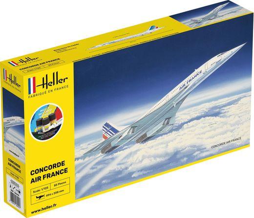 Maquette avion : Starter Kit Concorde - 1:125 - Heller 56445