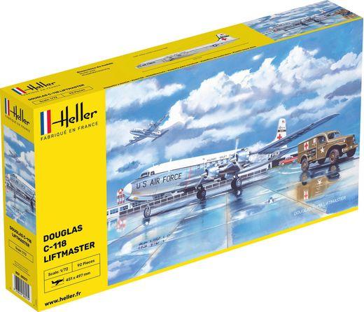 Maquette d'avion militaire : C-118 Liftmaster - 1/72 - Heller 80317