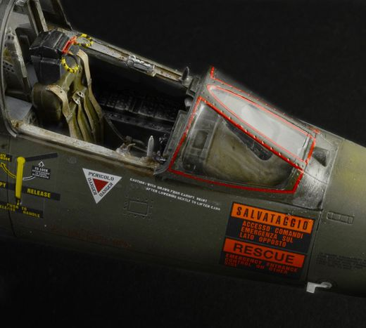 Maquette avion américain moderne : TF-104G Starfighter - 1:32 - Italeri 2509