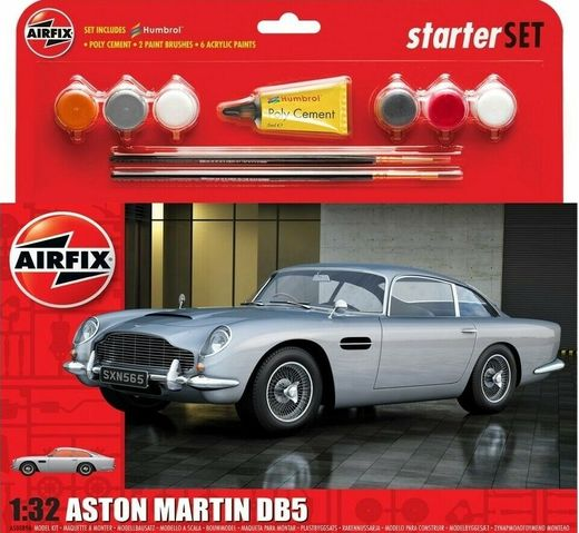 Medium Starter Set - Aston Martin DB5 Silver - 1:32 - Airfix 50089B 50089