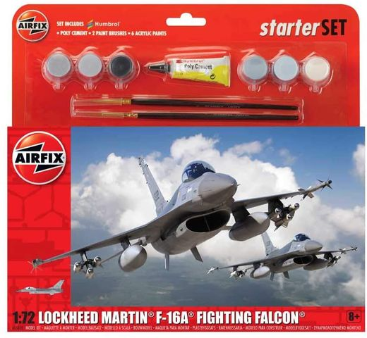Maquettes avion : Lockheed Martin F-16A Fighting Falcon - 1:72 - Airfix 55312