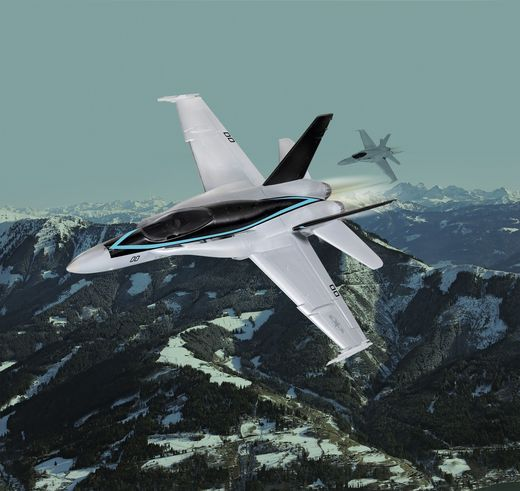 "Maquette militaire : F/A-18 Hornet ""Top Gun"" Easy-click - 1:72 - Revell 04965, 4965 - france-maquette.fr"