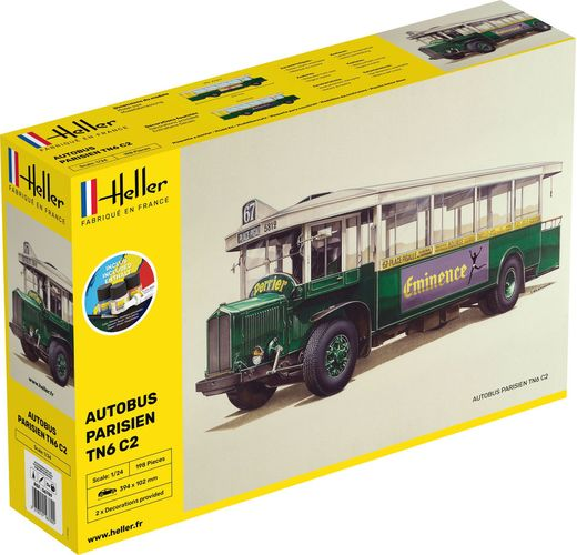 Maquette bus : Autobus parisien TN6 C2 - 1:24 - Heller 56789
