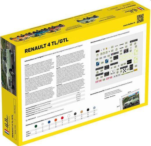 Maquette voiture de collection : Renault 4L GTL - 1/24 - Heller 56759