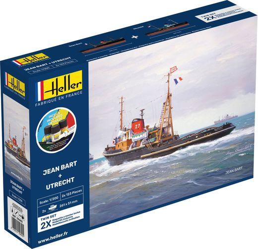 Maquette bateau : Starter Kit Jean Bart + Utrecht Twinset - 1:200 - Heller 55602