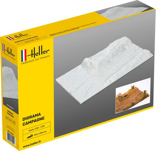 Socle de diorama campagne à peindre et décorer - 1/35 - Heller 81254
