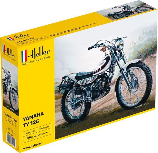 Maquette moto : Yamaha TY 125 - 1:8 - Heller 80902