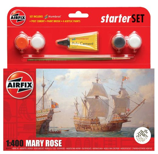 Maquette voilier : Starter Set Mary Rose - 1:400 - Airfix 55114 055114 - france-maquette.fr