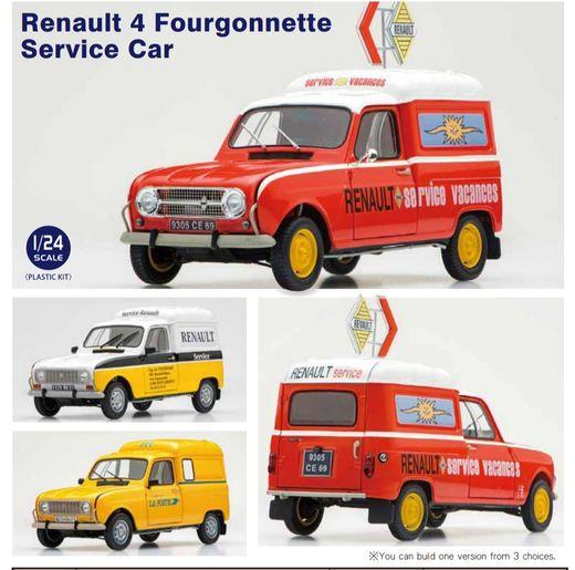 Maquette R4 Fourgonnette Renault Service - 1/24 - Ebbro 25012