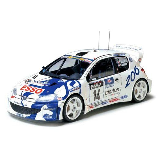 Maquette voiture de rallye - Peugeot 206 Wrc - 1/24 - Tamiya 24221
