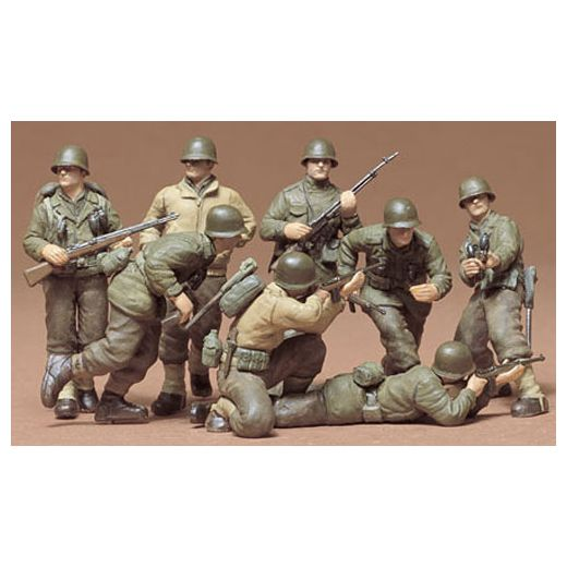 Figurines militaires : Infanterie US front Ouest - 1/35 - Tamiya 35048