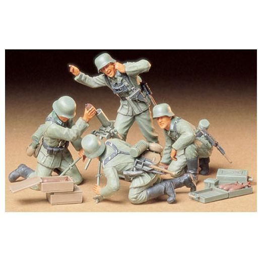 Figurines militaires : Servants de mortier allemands - Tamiya 35193