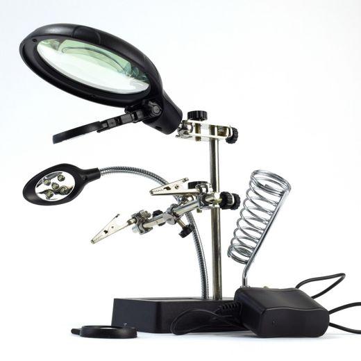 Accessoire modélisme : Troisième main avec 3 loupes et 5 LED - Artesania Latina 27022-3