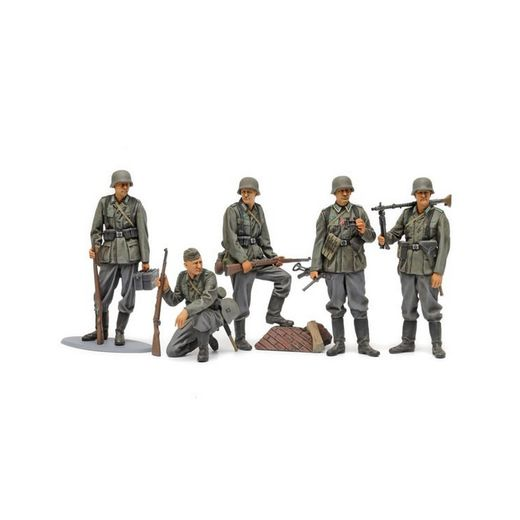 Figurines militaires : Fantassins allemands - 1/35 - Tamiya 35371 - france-maquette.fr
