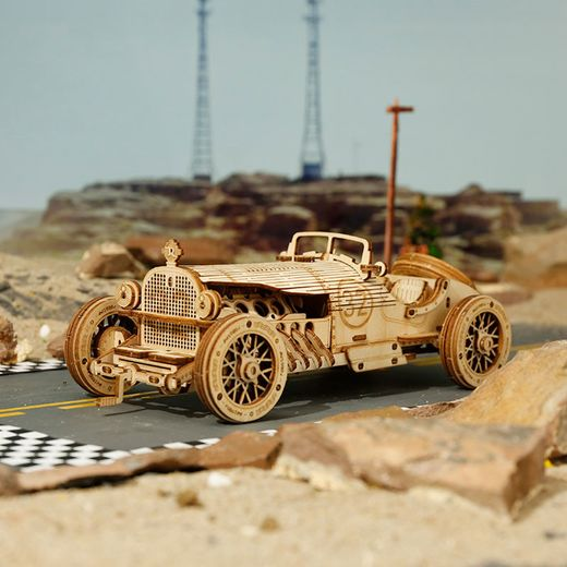 Puzzle 3D / Maquette bois voiture V8 Grand Prix - Robotime
