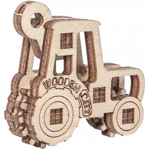 Puzzle 3D - Maquette bois : Set transports 3 en 1 - Wooden City WR319 319