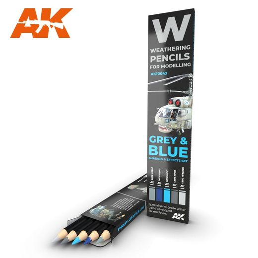 Watercolor pinceaux Set Grey And Blue Camouflages - Ak Interactive AK10043