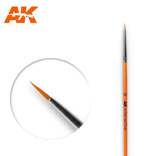 Pinceau, brosse ronde 5/0 synthétique - Ak Interactive AK600