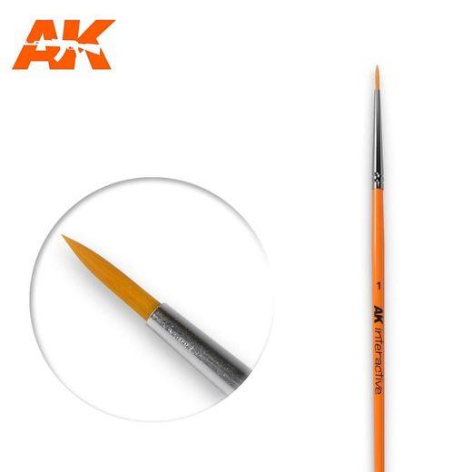 Pinceau, brosse ronde 1 synthétique - Ak Interactive AK603