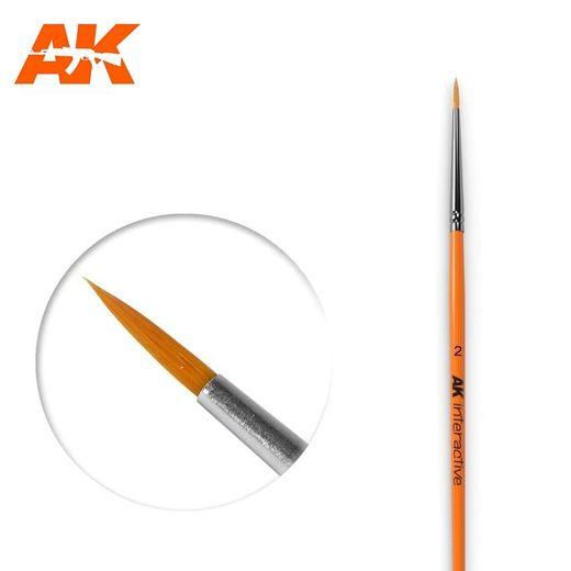 Pinceau, brosse ronde 2 synthétique - Ak Interactive AK604
