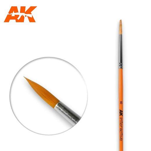 Pinceau, brosse ronde 8 synthétique - Ak Interactive AK607
