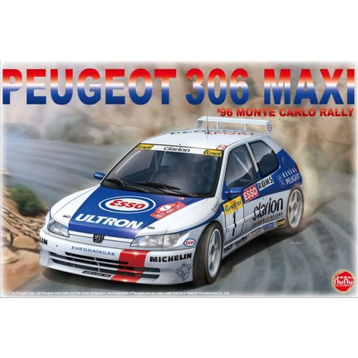 Maquette voiture Peugeot 306 Maxi Montecarlo 1996 1:24 - Nunu 24009