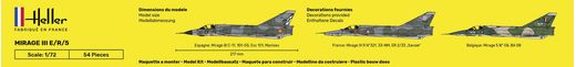 Maquette avion : Starter Kit Mirage III E - 1:72 - Heller 56323