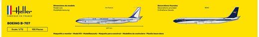 Maquette avion civil : Starter Set Boeing B-707 - 1/72 - Heller 56452