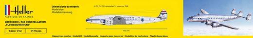 Maquette avion : Starter Kit 749 Constellation 'Flying Dutchman' - 1:72 - Heller 56393