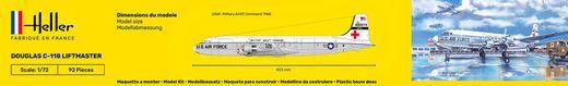 Maquette d'avion militaire : Starter Kit C-118 Liftmaster - 1/72 - Heller 56317