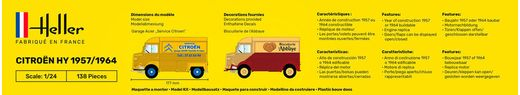 Maquette voiture de collection : Starter Kit Citroën Type H 2 - 1/24 - Heller 56744