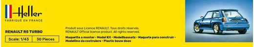 Maquette voiture de collection : Starter kit Renault R5 Turbo - 1/43 - Heller 56150