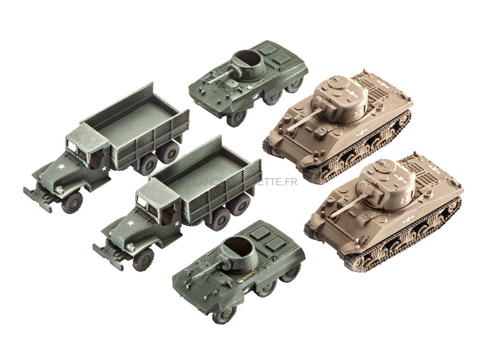 maquette militaire us army v hicules seconde guerre mondiale 1 144 revell 03350. Black Bedroom Furniture Sets. Home Design Ideas
