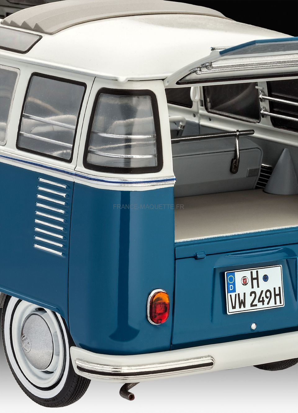 maquette de bus volkswagen typ 2 t1 samba bus revell. Black Bedroom Furniture Sets. Home Design Ideas