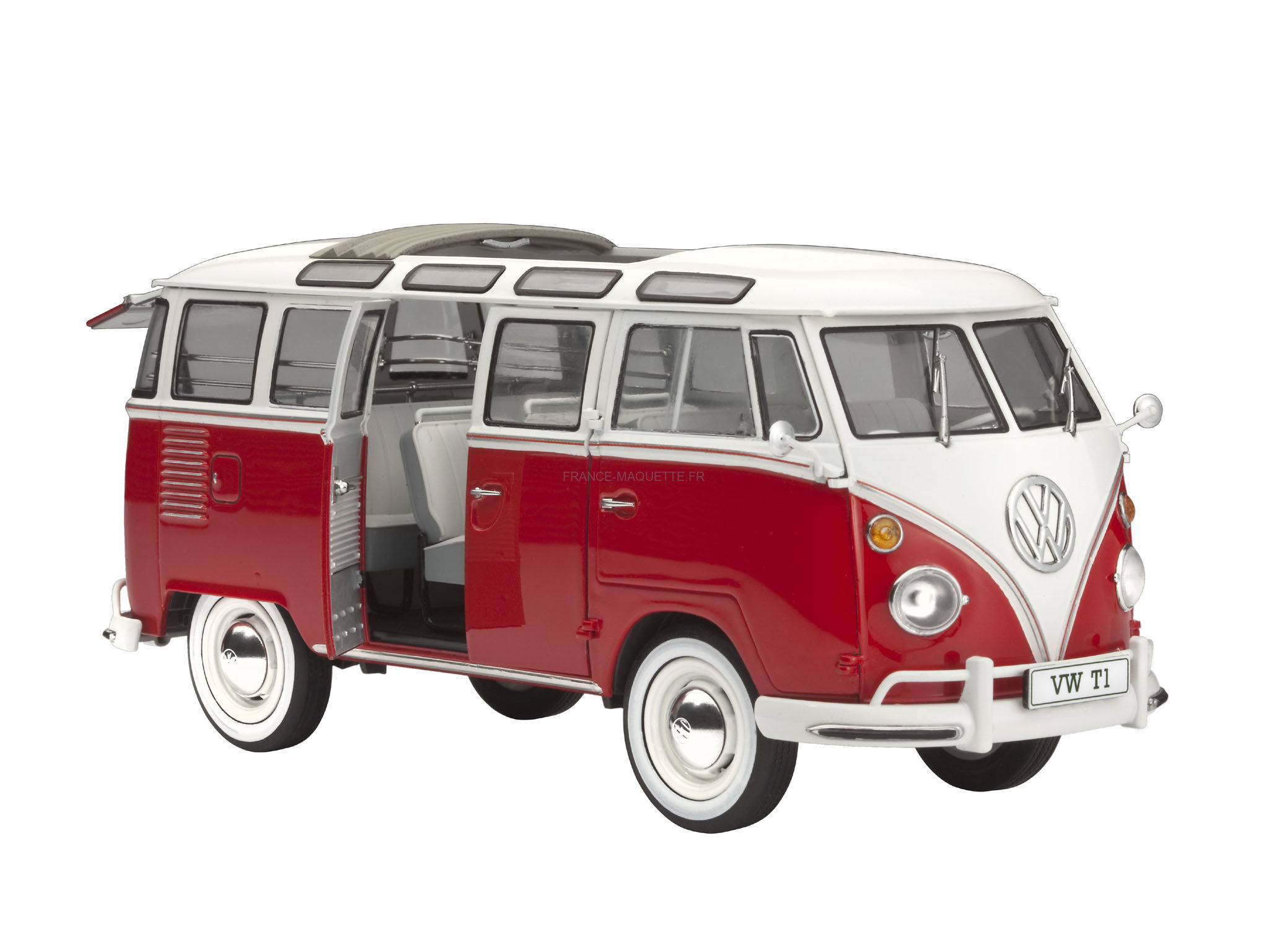 maquette bus bus volkswagen t1 samba 1 24 revell. Black Bedroom Furniture Sets. Home Design Ideas